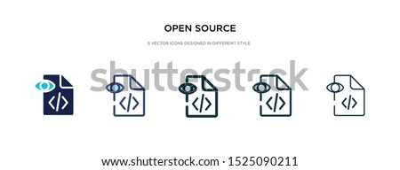 open source icon in different style vector illustration. two colored and black open source vector icons designed in filled, outline, line and stroke style can be used for web, mobile, ui