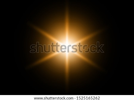 Sun rays light isolated on black background #1525165262