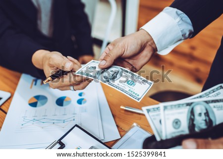 Young business people working together in meeting room at office desk. #1525399841