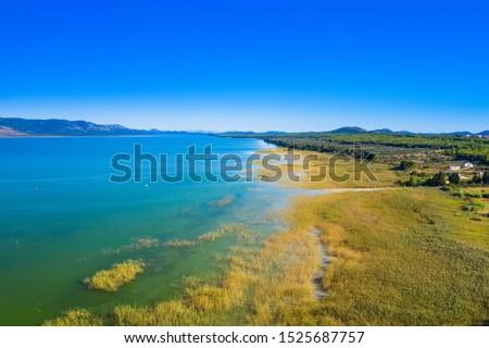 Beautiful nature park Vransko lake, ornithological reservation in Dalmatia, Croatia #1525687757
