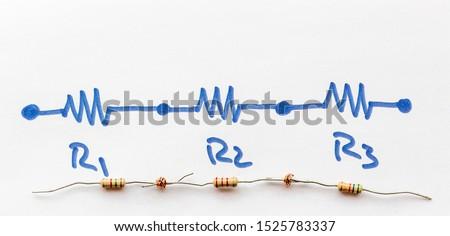 three series Connected Resistors - series circuit #1525783337