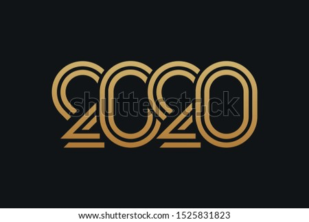 Gold 2020 , typography text design #1525831823