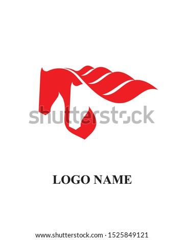 Two horse icon vector logo template sign symbol icon for business. company and employment. Royalty-Free Stock Photo #1525849121