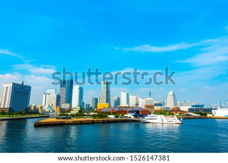 Cityscape of Yokohama MinatoMirai in Yokohama City, Kanagawa Prefecture, Japan #1526147381