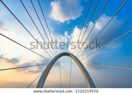 Abstract architectural features, symmetry bridge close-up Royalty-Free Stock Photo #1526214956