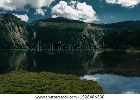 Lagoa Azul and Lagoa Verde in Sao Miguel island, Azores #1526486330