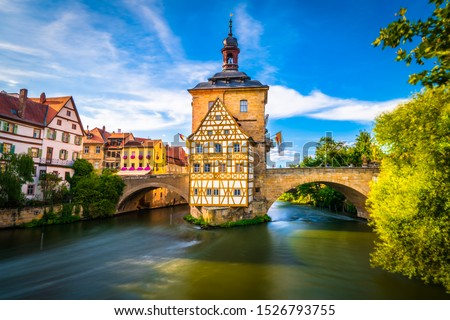 Old town of traditional architecture of Bamberg, Bavaria, Germany #1526793755