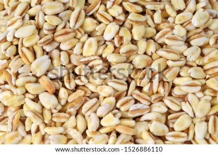 Raw wheat beans in close-up #1526886110