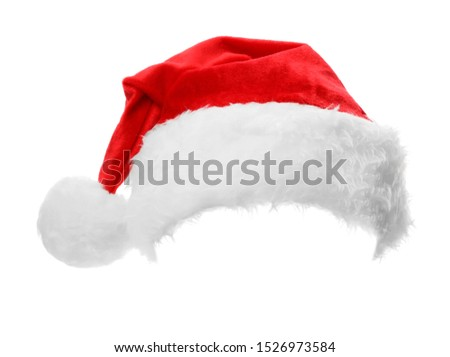 Santa Claus red hat isolated on white #1526973584