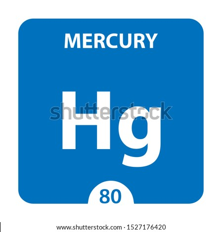 Mercury Chemical 80 element of periodic table. Molecule And Communication Background. Mercury Chemical Hg, laboratory and science background. Essential chemical minerals and micro elements