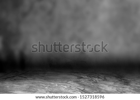 Dark concrete surface, beautiful mist, is an art to decorate the rough surface (Can write text) #1527318596