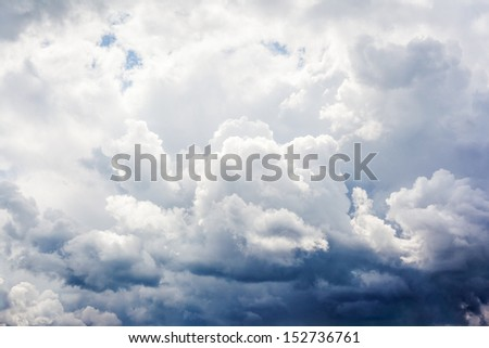 Natural background: storm clouds in the sky for collage