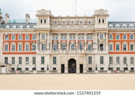 The Horse Guards Parade , a large parade ground off Whitehall in London #1527401219