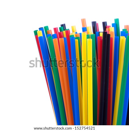 colored tubes for drinking. #152754521