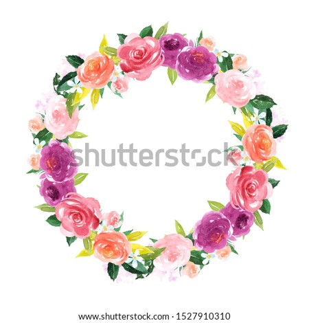 Flower clip art for wedding invitation or greeting cards