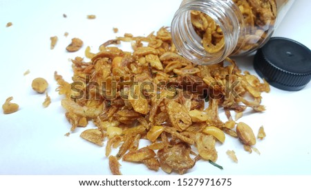 fried onions in tasty and tasty packaging #1527971675