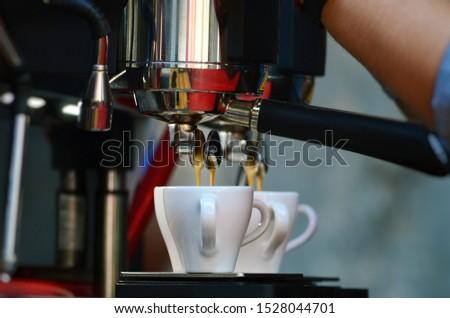 Making espresso in espresso machine #1528044701