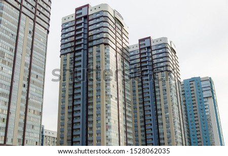 New high-rise residential buildings.Residential complex. #1528062035