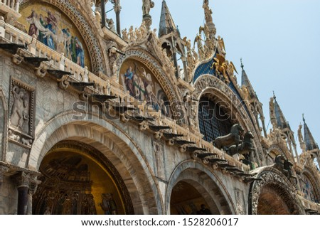 """VENICE, ITALY -  Buildings at Piazza San Marco (St Mark's Square) - the principal public square of Venice, Italy . It is generally known just as """"the Piazza"""" (la Piazza) #1528206017"""