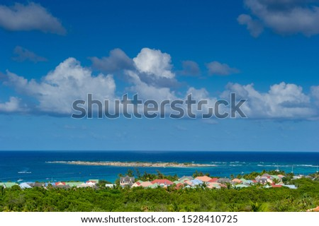 Orientale Bay / Sint Maarten. 04.10.2014. Panoramic View of the Orientale Bay in Sint Maarten #1528410725