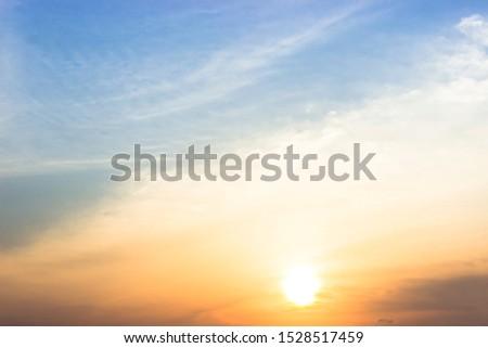 sunset and beautiful evening cloud #1528517459