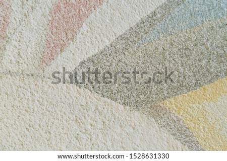 Texture of light painted as undercoat on a concrete wall. Abstract background, texture. Image includes a effect tones. #1528631330