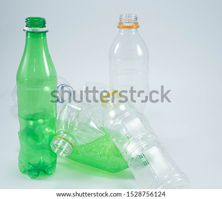 Recycle bottles on a white background #1528756124