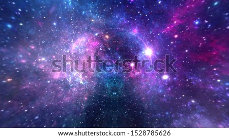Planets and galaxy, cosmos, physical cosmology, science fiction wallpaper. #1528785626