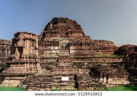 Wat Mahathat in Buddhist temple complex in Ayutthaya near Bangkok. Thailand Stutue religion #1528933853