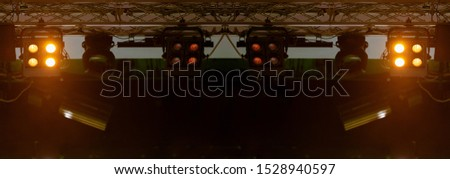scene, stage light with colored spotlights and smoke #1528940597