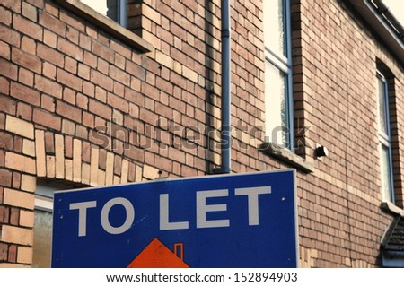 To Let Sign outside a London Town House