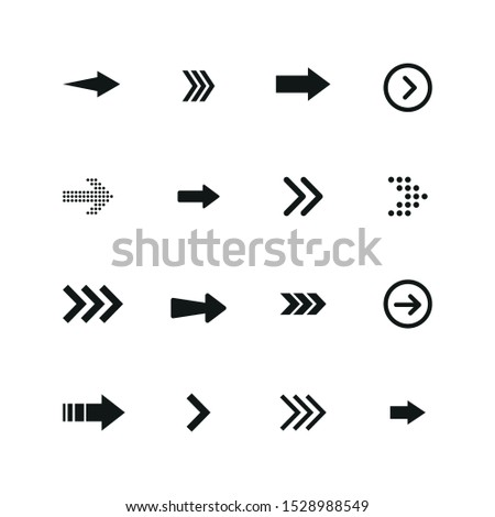 Set of black arrows. Arrows collection. Vector illustration.  #1528988549