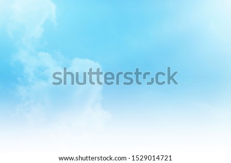 blue sky with white cloud #1529014721