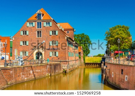 Stade - July 2019, Germany: View of the Schwedenspeicher Museum in the small German town #1529069258