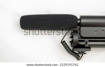 Cannon or unidirectional microphone for connectivity with cameras or video cameras #1529195762