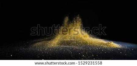 glitter lights grunge background, gold glitter defocused abstract Twinkly gold Lights Background.  #1529231558