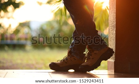 men shoes fashion background and stock photo