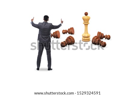 Strategy and tactics concept with businessman #1529324591