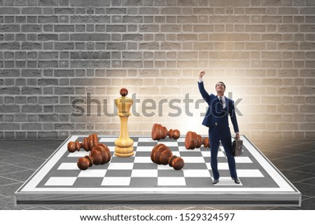 Strategy and tactics concept with businessman #1529324597