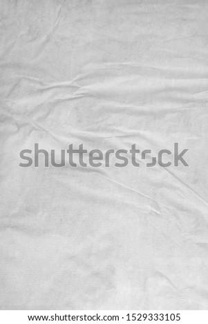 glued uneven bubbled up white paper background backdrop #1529333105