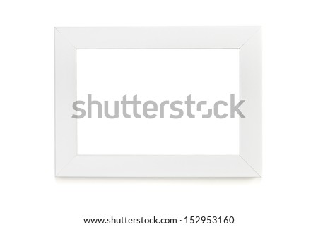 White picture frame over white background #152953160