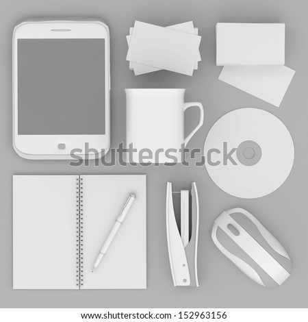 Corporate identity template on the gray background #152963156