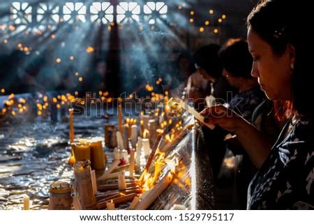 Aparecida (Brazil)Oct 12, 2019Devotees celebrate the Brazil's patroness day at the National Shrine of Our Lady of Aparecida. #1529795117