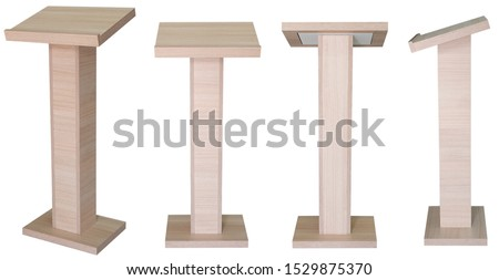 Lectern book stand isolated on white background four angle views #1529875370