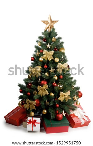 Decorative Christmas Tree isolated on white background #1529951750