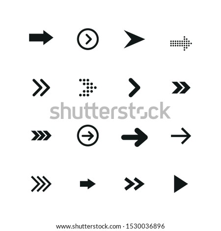 Set of black arrows. Arrows collection. Vector illustration.  #1530036896