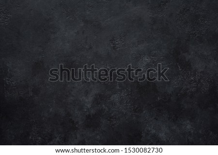 Black concrete wall background. Texture of black concrete #1530082730