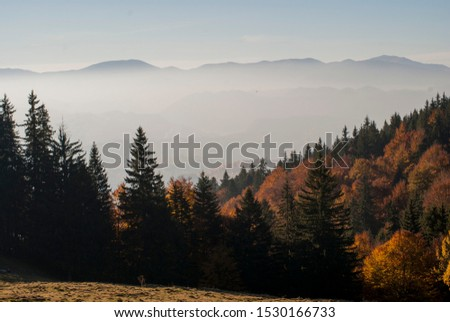 Piatra Craiului National Park Amazing Landscape Autumn Scene, Romanian Mountains, Carpathians, Hiking and outdoor breathtaking Nature panorama #1530166733