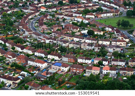 Aerial views of houses #153019541
