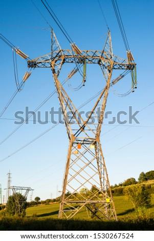 High voltage transmission lines. Transmission of electricity. #1530267524